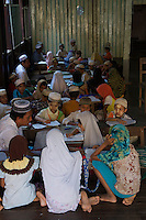 Morning Muslim school class in Hpa An, Myanmar, Burma