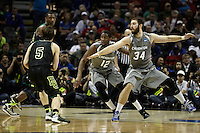 SAN ANTONIO, TX - MARCH 23, 2014: The Creighton University Bluejays face the Baylor University Bears in the 3rd Round of the 2014 NCAA Basketball Tournament at the AT&T Center. (Photo by Jeff Huehn)