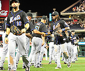 New York Mets leave the field as they celebrate their 8 -5 victory against Washington Nationals at Nationals Park in Washington, D.C. on Friday, July 29, 2011. .Credit: Ron Sachs / CNP.(RESTRICTION: NO New York or New Jersey Newspapers or newspapers within a 75 mile radius of New York City)