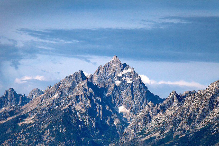 The majestic Grand Teton (13,770 feet or 4,107 meters) in the Tetons Range, Grand Teton National Park, Wyoming, USA