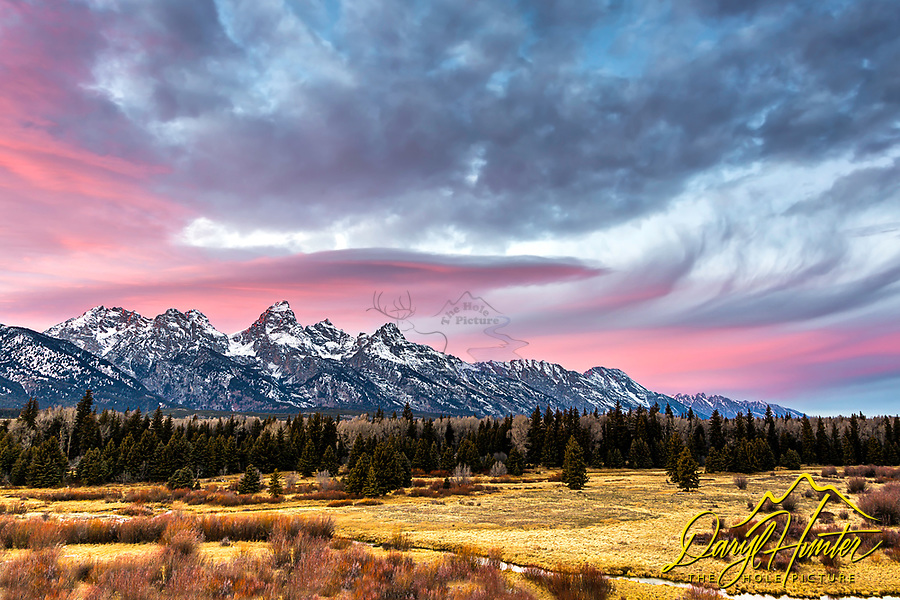 """A pretty evening in Grand Teton Natonal Park. Moments like this are just that """"moments"""", sadly they don't last long; however, that gives greater appreciation of them"""