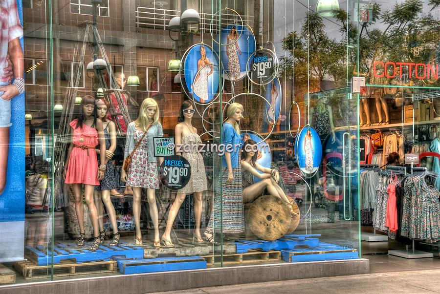 USA, Third Street Promenade, Downtown, stores, shopping, street mall