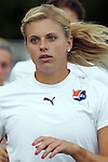 19 August 2009: Lauren Sesselmann 21) of Sky Blue FC.  Saint Louis Athletica was defeated by the visiting Sky Blue FC 0-1 in the post season Super Semifinal Women's Professional  Soccer game at Anheuser-Busch Soccer Park, in Fenton, MO.