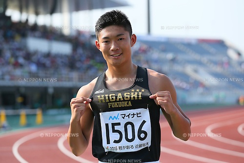 Manato Sasaki, JULY 29, 2015 - Athletics : 2015 All-Japan Inter High School Championships, Men's 400m Final at Kimiidera Athletic Stadium, Wakayama, Japan. (Photo by YUTAKA/AFLO SPORT)