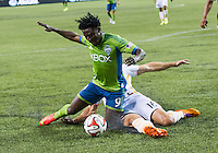 Seattle, Washington - August 10, 2014: The Seattle Sounders FC defeated the Houston Dynamo 2-0 in MLS action at CenturyLink Field.