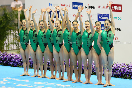 Japan team group (JPN), <br /> MAY 3, 2015 - Synchronized Swimming : <br /> The 91th Japan Synchronised Swimming Championships Open 2015 <br /> Women's Team Free Combination Final <br /> at Tatumi International pool in Tokyo, Japan. <br /> (Photo by Yohei Osada/AFLO SPORT) [1156]