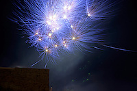 Fireworks on Bastille Day, July 14th, Marseille, France