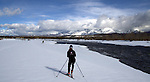 Backcountry Cross Country Skiing, Polebridge, MT, with views into Glacier National Park