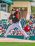 10 March 2015: Miami Marlins pitcher Tom Koehler on the mound during Spring Training action against the Washington Nationals at Roger Dean Stadium in Jupiter, Florida. The Marlins edged out the Nationals 2-1 on a walk-off solo home run in the 9th inning of Grapefruit League play. Mandatory Credit: Ed Wolfstein Photo *** RAW (NEF) Image File Available ***