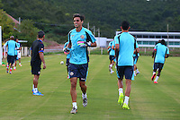 Bryan Ruiz of Costa Rica wearing goalkeeping gloves during the training session ahead of tomorrow's fixture vs Greece