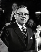G. Harold Carswell, United States President Richard M. Nixon's second nominee after the defeat of Clement F. Haynsworth, Jr. to be Associate Justice of the U.S. Supreme Court following the resignation of Associate Justice Abe Fortas is shown as he prepares to testify before the U.S. Senate Judiciary committee on Tuesday, January 27, 1970.  Carswell faced questions about his voiced support for racial segregation.  Carswell's nomination was defeated by a 51 - 45 vote in the U.S. Senate on Wednesday, April 8, 1970..Credit: Arnie Sachs / CNP