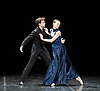 Anna Karenina Eifman Ballet at The London Coliseum, London, Great Britain press photocall 3rd April 2012 Music by Piotr Ilyitch Tchaikovsky Set design by Zinovy Margolin Costume design by Slava Okunev Lighting by Gleb Filshtinsky Nina Zmievets (as Anna) Oleg Gabyshev (as Vronsky) Photograph by Elliott Franks