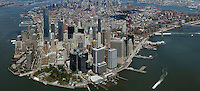 aerial photograph lower Manhattan skyline, New York City