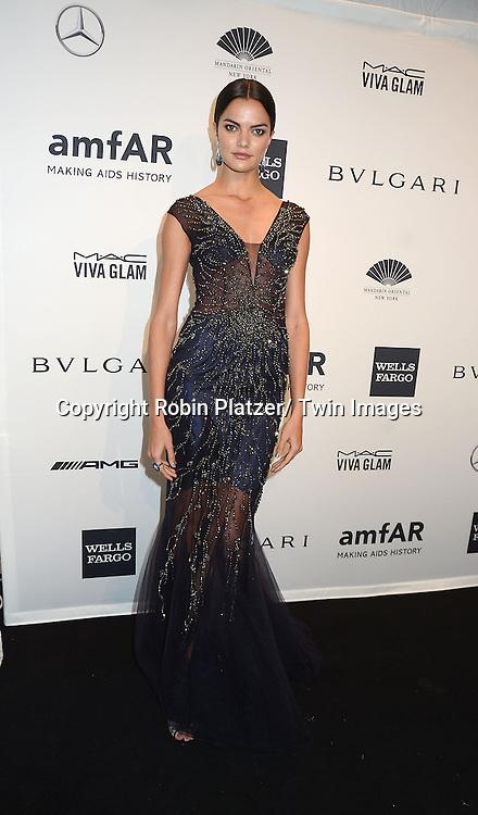 Barbara Fialho attends the amfAR New York Gala on February 5, 2014 at Cipriani Wall Street in New York City.