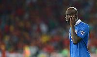 FUSSBALL  EUROPAMEISTERSCHAFT 2012   FINALE Spanien - Italien            01.07.2012 Mario Balotelli (Italien) ist enttaeuscht