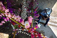"A Salvadoran cowboy rests during the Flower & Palm Festival in Panchimalco, El Salvador, 8 May 2011. On the first Sunday of May, the small town of Panchimalco, lying close to San Salvador, celebrates its two patron saints with a spectacular festivity, known as ""Fiesta de las Flores y Palmas"". The origin of this event comes from pre-Columbian Maya culture and used to commemorate the start of the rainy season. Women strip the palm branches and skewer flower blooms on them to create large colorful decoration. In the afternoon procession, lead by a male dance group performing a religious dance-drama inspired by the Spanish Reconquest, large altars adorned with flowers are slowly carried by women, dressed in typical costumes, through the steep streets of the town."
