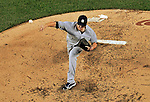15 June 2012: New York Yankees pitcher Phil Hughes on the mound against the Washington Nationals at Nationals Park in Washington, DC. The Yankees defeated the Nationals 7-2 in the first game of their 3-game series. Mandatory Credit: Ed Wolfstein Photo
