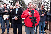 Gun rights supporters gathered in front of the Georgia Capitol for the &quot;Georgia Second Right Rally.&quot; <br />