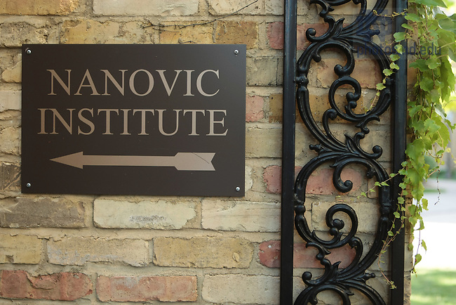 Nanovic Institue sign, Brownson Hall..Photo by Matt Cashore..All rights reserved.  No usage without proper authorization and/or compensation...To contact Matt Cashore:.cashore1@michiana.org.574-220-7288.574-233-6124.www.mattcashore.com..