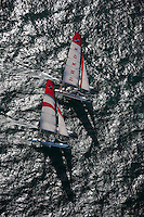 Extreme Sailing Series 2011. Leg 1. Muscat. Oman.Day 1 of racing, Luna Rossa and Alinghi