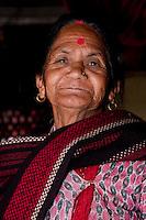 Kathmandu, Nepal.  Old Nepali Woman with Tika on her Forehead.