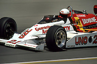 INDIANAPOLIS, IN - MAY 25: Tim Richmond drives his Penske PC7 003/Cosworth during practice for the Indianapolis 500 at the Indianapolis Motor Speedway in Indianapolis, Indiana, on May 25, 1980.