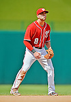 22 July 2012: Washington Nationals infielder Danny Espinosa in action against the Atlanta Braves at Nationals Park in Washington, DC. The Nationals defeated the Braves 9-2 to split their 4-game weekend series. Mandatory Credit: Ed Wolfstein Photo