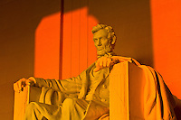 Statue of Abraham Lincoln, Lincoln Memorial, Washington, District of Columbia, USA