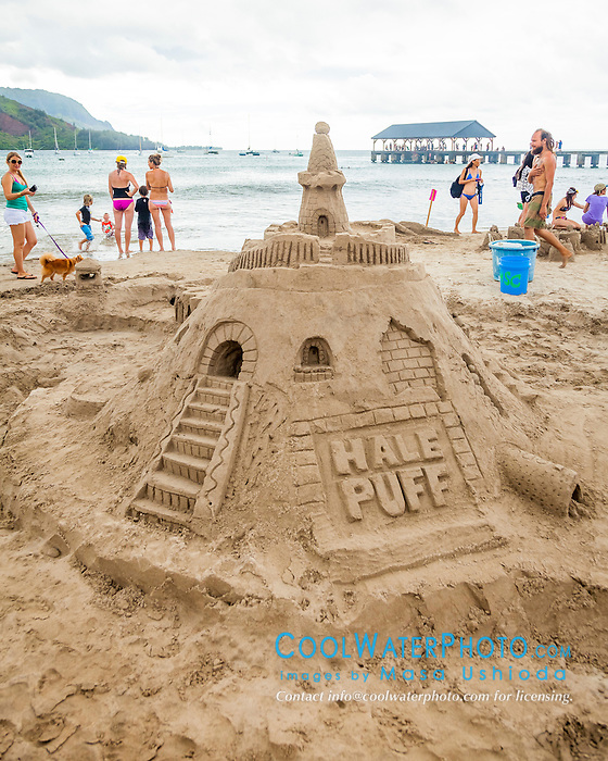 Hawaii Sand Festival, Sand Art/Castle Contest, Hanalei Bay Beach, Kauai, Hawaii, USA