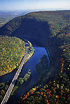 Aerial, Pennsylvania, I-80, Delaware Water Gap