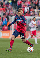 Bridgeview, IL. - Sunday, March 23, 2014: The New York Red Bulls and Chicago Fire played to a 1-1 tie during a MLS match at Toyota Park.