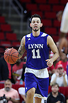 03 November 2016: Lynn's Allen Baez. The North Carolina State University Wolfpack hosted the Lynn University Fighting Knights at PNC Arena in Raleigh, North Carolina in a 2016-17 NCAA Division I Men's Basketball exhibition game. NC State won the game 100-66.