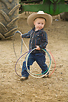 Young roper Rosen Baldwin twirls his lasso at the Jordan Valley Big Loop Rodeo.