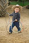 Young roper Rosen Baldwin twirls his lasso at the Jordan Valley Big Loop Rodeo.