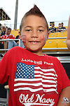 17 August 2013: U.S. fan. The United States Men's National Rugby Team played the Canada Men's Nationa Rugby Team at Blackbaud Stadium in Charleston, South Carolina in the first leg of their 2015 Rugby World Cup Qualifying Series. Canada won the game 27-9.