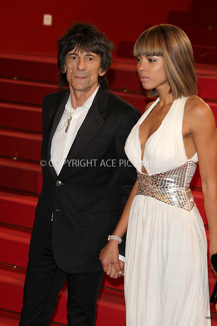WWW.ACEPIXS.COM . . . . .  ..... . . . . US SALES ONLY . . . . .....May 18 2011, Cannes....Ana Araujo and Ronnie Wood at the premiere of 'Melancholia' at the Cannes Film Festival on May 18 2011 in Cannes, France....Please byline: FAMOUS-ACE PICTURES... . . . .  ....Ace Pictures, Inc:  ..Tel: (212) 243-8787..e-mail: info@acepixs.com..web: http://www.acepixs.com
