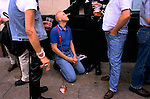'GAYFEST MANCHESTER, UK', GAY DRINKERS OUTSIDE THE REMBRANDT HOTEL AND BAR, IN 'THE VILLAGE' DURING THE GAY PARADE,