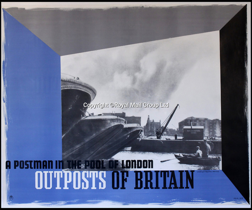 BNPS.co.uk (01202 558833)<br /> Pic: RoyalMailGroup/BNPS<br /> <br /> E McKnight Kauffer (Edward 1890-1954) Outposts of Britain A Postman in the Pool of London poster.<br /> <br /> A one-of-a-kind sale of rare vintage posters could net the Post Office &pound;40,000 to put towards the building of a new museum dedicated to the service.<br /> <br /> In a bid to raise funds for the new British Postal Museum, curators sifted through the Royal Mail archives to find duplicates of advertising posters dating back to the 1930s that they could sell at auction.<br /> <br /> The resulting collection of more than 150 original posters are now going under the hammer at Onslows Auctions in Blandford, Dorset, in a sale the likes of which has never been held before.<br /> <br /> The proceeds will go towards the building of the new museum in Camden, London, which will feature part of the old Post Office Underground Railway - the Mail Rail - as a heritage attraction.
