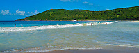 Culebra, Flamenco Beach,  White, Sand, Beach, Aua, Ocean, Water, Panorama , island-municipality of Puerto Rico, Caribbean, Island, Greater Antilles, Commonwealth USA