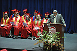 "Outgoing superintendent Mike Foster addresses the Lafayette High's graduation ceremony  at the C.M. ""Tad"" SMith Coliseum at the University of Mississippi on Friday, May 20, 2011."