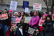 Washington, DC - February 11, 2017: Hundreds of people gather near the White House in Washington February 11, 2017 for a protest, organized by United We Stand, against the latest immigration raids and deportations by U.S. Immigration and Customs Enforcement agents.  (Photo by Don Baxter/Media Images International)