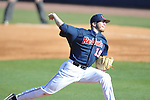 Ole Miss pitcher Bobby Wahl (19) vs. North Carolina-Wilmington at Oxford-University Stadium in Oxford, Miss. on Friday, February 24, 2012. Ole Miss won 2-0. Wahl gave up 1 hit in 7 innings, striking out 9 and walking 2.