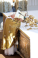 Pope Benedict XVI conducts a mass at Saint Peter Basilica in The Vatican, part of a major Vatican conference on evangelisation on October 16, 2011.