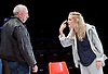 People, Places and Things <br /> by Duncan Macmillan <br /> directed by Jeremy Herrin <br /> at the Dorfman Theatre, NT, Southbank, London, Great Britain <br /> press photocall <br /> 28th August 2015 <br /> <br /> Denise Gough  <br /> Kevin McMonagle <br /> <br /> <br /> Photograph by Elliott Franks <br /> Image licensed to Elliott Franks Photography Services