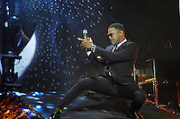 LONDON, ENGLAND - OCTOBER 28: Maxwell performing at Bluesfest 2016 at the O2 Arena on October 28, 2016 in London, England.<br /> CAP/MAR<br /> &copy;MAR/Capital Pictures
