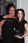 As The World Turns' Tamara Tunie with Sasha Cohen who holds her award as she was honored  - Figure Skating in Harlem celebrates 20 years - Champions in Life benefit Gala on May 2, 2017 at 583 Park Avenue, New York City, New York. (Photo by Sue Coflin/Max Photos)