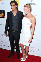 SANTA MONICA, CA, USA - OCTOBER 26: Brenton Thwaites, Margot Robbie arrive at the 3rd Annual Australians in Film Awards Benefit Gala held at the Starlight Ballroom at Fairmont Miramar Hotel & Bungalows on October 26, 2014 in Santa Monica, California, United States. (Photo by Xavier Collin/Celebrity Monitor)