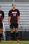 04 October 2014: Louisville's Erin Yenney. The Duke University Blue Devils hosted the University of Louisville Cardinals at Koskinen Stadium in Durham, North Carolina in a 2014 NCAA Division I Women's Soccer match. The game ended in a 0-0 tie after double overtime.