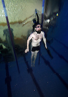 The first Norwegian freediving championship, held in Askinm, Norway..Terje Brandshaug swimming DYN 64 meters..© Fredrik Naumann/Felix Features