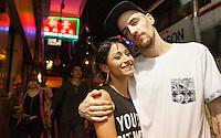 Alexander O'Neill (31) and Stephanie Valenzuela (22) are seen in Hong Kong, China, 25 September 2015.  Alexander O'Neill (31) an ex-friend of Tsang and his girlfriend Valenzuela helped bring Stephen Tsang to justice.